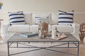 beach looking furniture. Furniture:Charming Beach Living Room Furniture With White Leather Sofa And Rectangle Wooden Coffee Table Looking Y