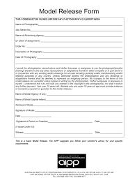 Talent Release Form Video Free Resume Builder