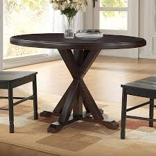 ina cottage monet espresso wood round dining table