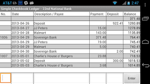 Checkbook Ledger App Simple Checkbook Ledger Android Free Download Simple