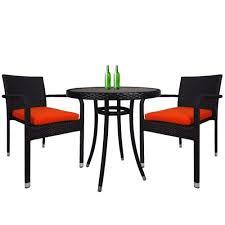 balcony 2 chair bistro set orange