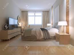 Modernes Schlafzimmer Design Geräumiges Zimmer Mit Hellen