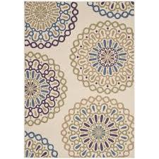 safavieh veranda cream indoor outdoor rug 4 x 5 7
