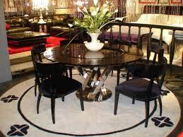vig a x spiral luxury round glossy black dining table w lazy susan modern