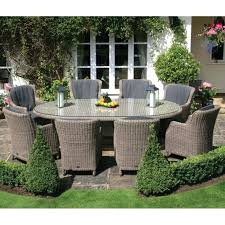 8 person outdoor dining set oval table outdoor dining furniture set with armchairs 8 person within