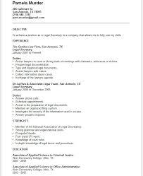 legal secretary resume example examples of secretary resumes