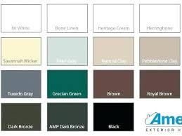 Aluminum Trim Coil Color Chart Aluminum Siding Colors Edithspeck Co