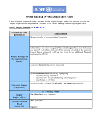 Budget Request Form Project Extension Request Form 21