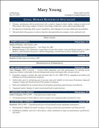 Resume Hr Generalist Objectiveple Examples Objective Statements
