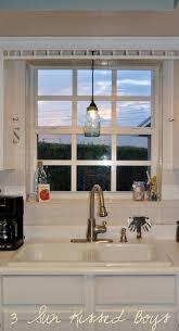 kitchen pendant lighting over sink. Remodelaholic Mason Jar Pendant Light Tutorial Over Kitchen Sink Dsc Fancy  Lights Table Ment Above Island Kitchen Pendant Lighting Over Sink