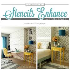 diy office space. Stencils Enhance A Small Space Diy Office