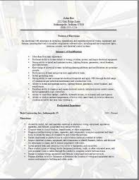 Sample Of Electrician Resumes Electrician Resume Occupational Examples Samples Free Edit