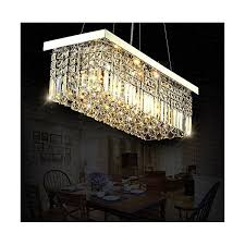 siljoy rectangle crystal chandeliers ceiling lights modern pendant light l100 x w25cm