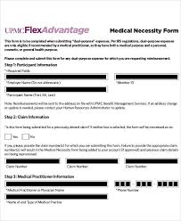 Letter Of Medical Necessity Form Extraordinary 48 Sample Medical Forms Sample Templates