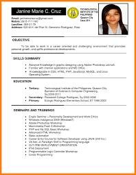 Resume Samples Philippines Free Grassmtnusa Com