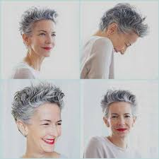 cute short pixie hairstyle for older women