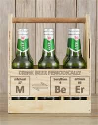 gifts personalised periodically castle beer caddy