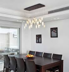 white dining room chandelier with square dining table