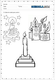 Desenhos De Velas De Natal Para