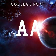 collage fonts free college font download