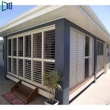 aluminium sun shutters outdoor sun shade sliding louver windows
