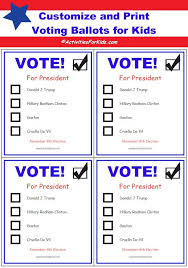 Free Printable Ballots for Kids - Classroom Voting Ballot | Voting ...