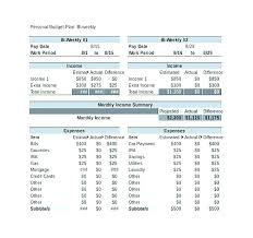 Excel Personal Budget Template – Norstone.club