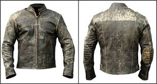 com men s vintage antique distressed black retro motorcycle biker leather jacket