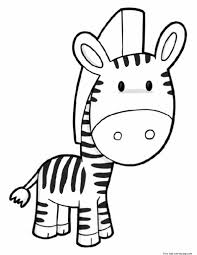 Small Picture Printable cute zebra coloring pages Free Printable Coloring