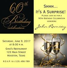 surprise birthday party invite template 60th surprise birthday party invitation template for