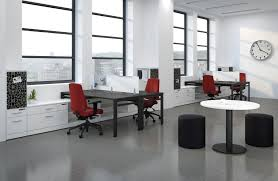 corporate office layout. Minimalist Office Layout Ideas Has Black Table And Red Seat On The Grey Floor It Also Corporate Y