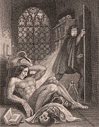 frankenstein illustration by theodor von holst from the frontispiece of the 1831 edition frankenstein