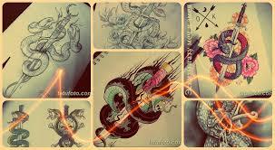 эскизы тату меч и змея варианты рисунков для тату значение и фото