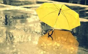 umbrella yellow rain mood wallpaper  x    wallpaperup