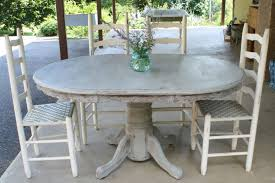 Kitchen And Dining Furniture Primitive Proper Weathered Paris Gray Dining Table How Melted