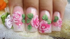 35+ Best 3D Rose Flowers Nail Art Design Ideas