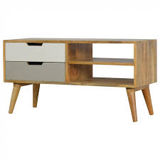 nordic style furniture. Artisan Nordic Style Media Unit / TV - 2 Drawers, Hickory Furniture