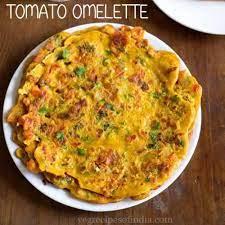 tomato omelette eggless vegetarian