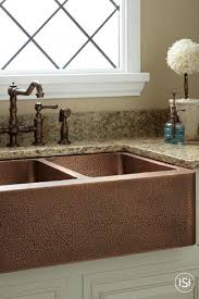 hammered copper farmhouse sink. 33 Hammered Copper 60 40 Offset Double Bowl Farmhouse Sink Small Within Design 17