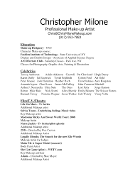 Makeup Artist Resume Objective Sample Alexa Examples How To Make