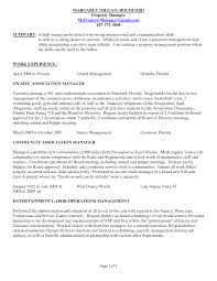 Apartment Manager Resume Resume Format For Operations Profile Luxury
