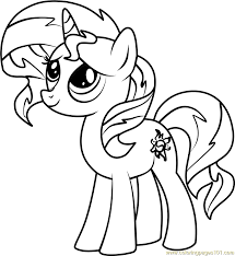 Small Picture Sunset Shimmer Pony Coloring Page Free My Little Pony