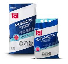 tal mosaicfix is a fine textured adhesive and grout