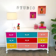 bright painted dresser bright painted furniture