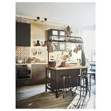 Vadholma îlot Pour Cuisine Noir Chêne Ikea
