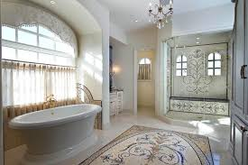 luxury master bathroom with mosaic tile design if money is not a