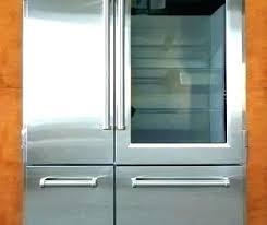 glass front refrigerator freezer residential door combo integrated co