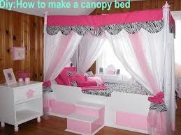 DIY:How to make your own canopy bed - YouTube