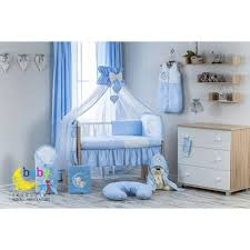 11 pcs bear moon embroidery baby nursery bedding set baby raj