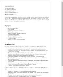 Resume Templates: Er Registration Clerk